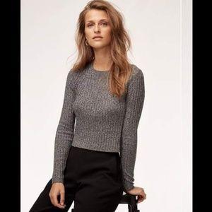 ARITZIA Babaton Nathaniel Ribbed Cropped Sweater S